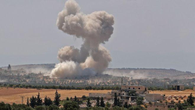 ABD, İdlib'e Saldırdı